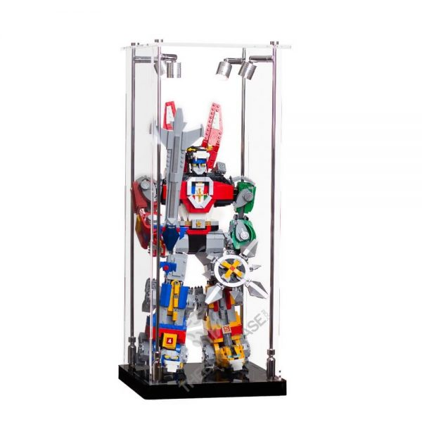 LEGO® Voltron Display Case - Front View AC0201-BCLG