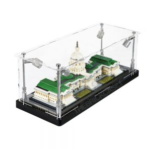 LEGO® Architecture United States Capitol Building Display Case - Side View BC0301-BCLG