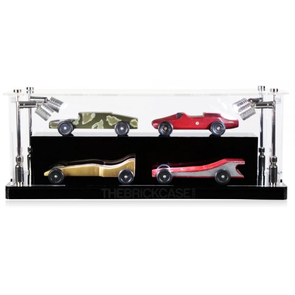 Boy Scouts Derby Cars Display Case - Front View BC0301-CLB