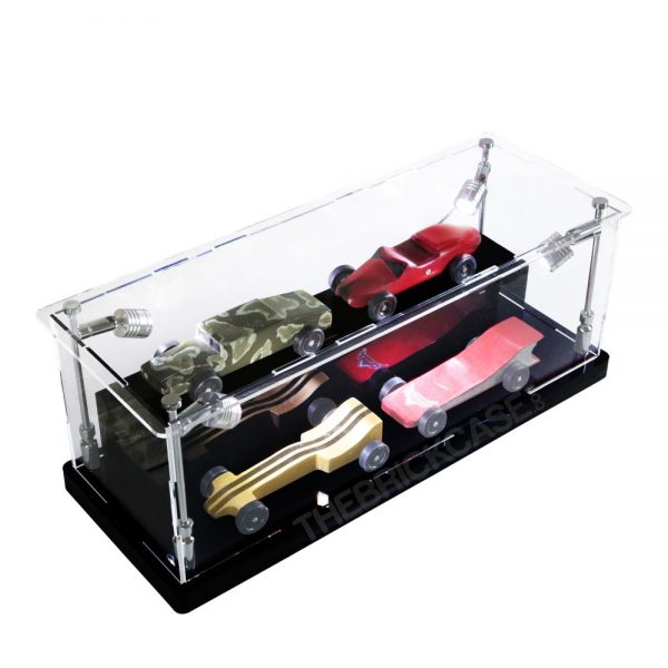 Boy Scouts Derby Cars Display Case - Side View BC0301-CLB