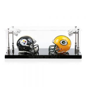 Mini Football Helmet Display Case - Front View BC0301-SPRW