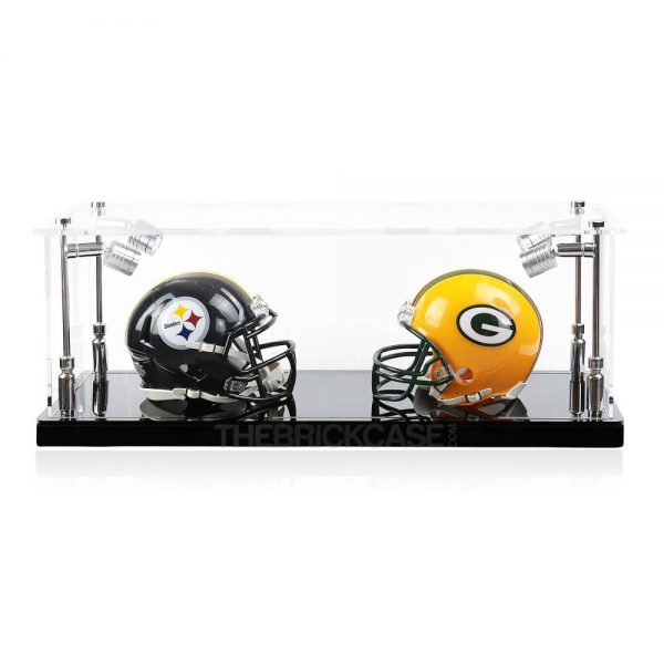 Mini Football Helmet Display Case - Front View BC0301-SPRW