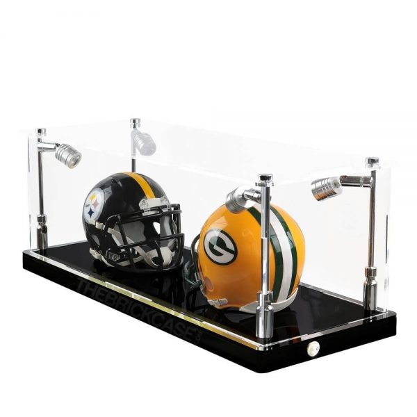 Mini Football Helmet Display Case - Side View BC0301-SPRW
