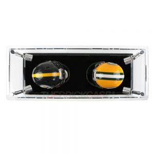 Mini Football Helmet Display Case - Top View BC0301-SPRW