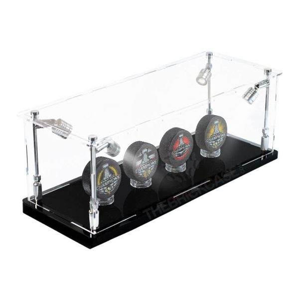 Hockey Puck Collectibles Memorabilia Display Case - Side View BC0301-SPRW