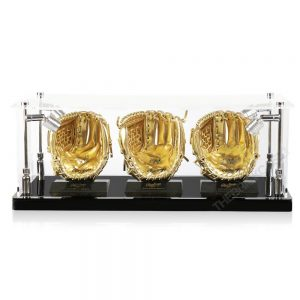 Mini Baseball Gloves Display Case - Front View BC0301-SPRW