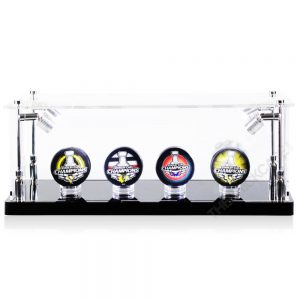 Hockey Puck Collectibles Memorabilia Display Case - Front View BC0301-SPRW