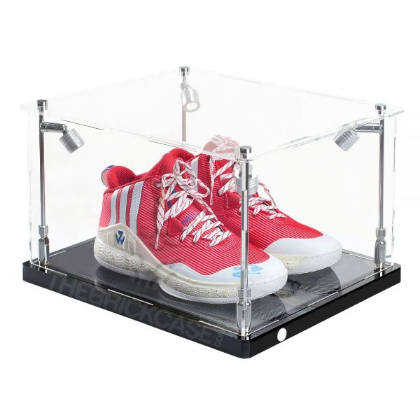 One Pair Sneaker Display Case - Side View SC151209-CLB