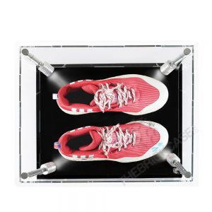 One Pair Sneaker Display Case - Top View SC151209-CLB