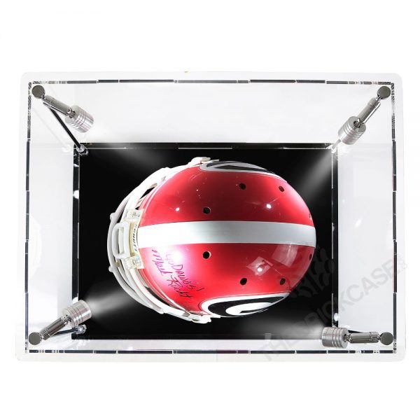 Football Helmet Display Case - Top View SC171213X-SPRW