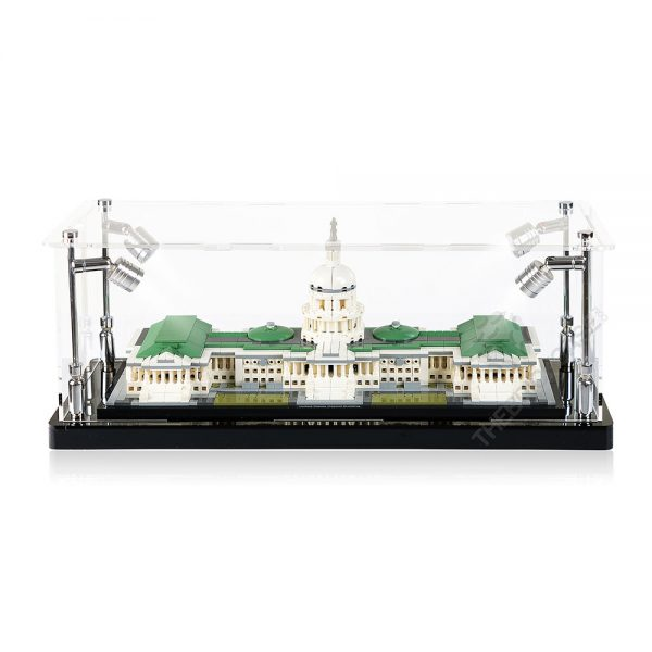 LEGO® Architecture United States Capitol Building Display Case - Front View BC0301-BCLG