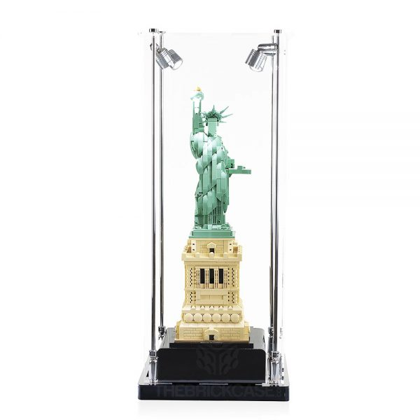 LEGO® Architecture Statue of Liberty Display Case - Front View AC0201-BCLG