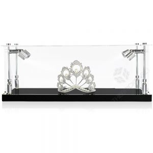 Crown Tiara Display Case - Front View BC0301-CLB