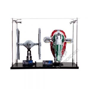 LEGO® Star Wars™ Slave l™ TIE Fighter Display Case - Front View AC0203-BCLG