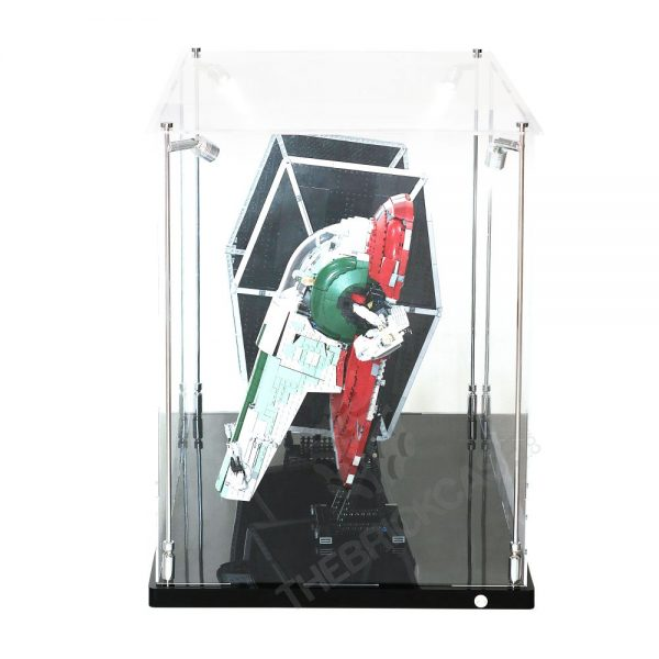LEGO® Star Wars™ Slave l™ TIE Fighter Display Case - Side View AC0203-BCLG