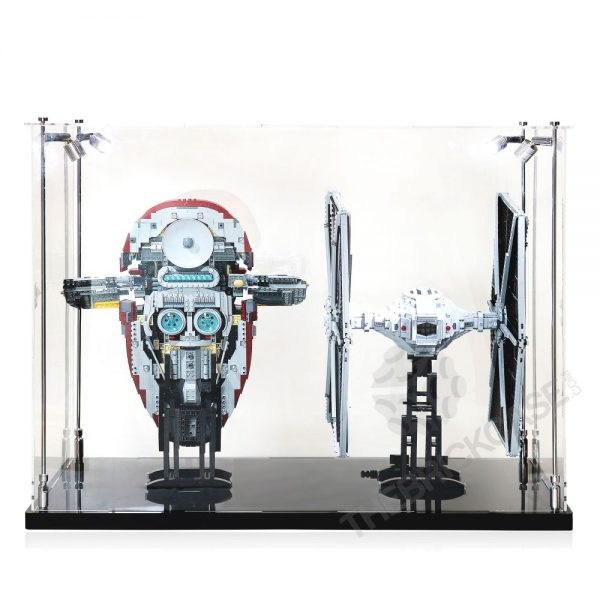 LEGO® Star Wars™ Slave l™ TIE Fighter Display Case - Back View AC0203-BCLG