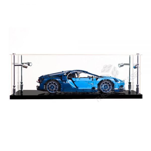 LEGO® Technic™ Bugatti Chiron Display Case - Side View BC0801-BCLG