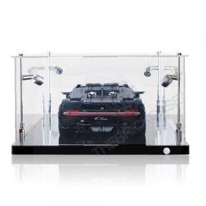 LEGO® Technic™ Bugatti Chiron Display Case - Back View BC0801-BCLG