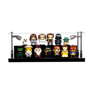 LEGO® BrickHeadz Two Tier Display Case - Front View AC0301-BCLG